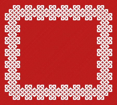 A Chinese knot rectangular frame, vector illustration Illustration