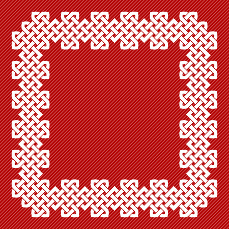 A Chinese knot square frame, vector illustration Illustration
