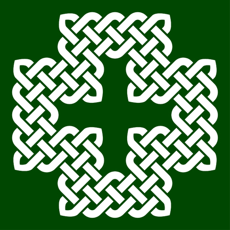 intertwined: A Celtic style cross shape knot, vector illustration