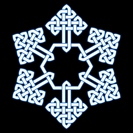A Chinese knot stylized snowflake vector illustration