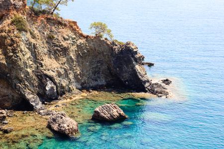 Rocky sea coast in Antalya, Turkey