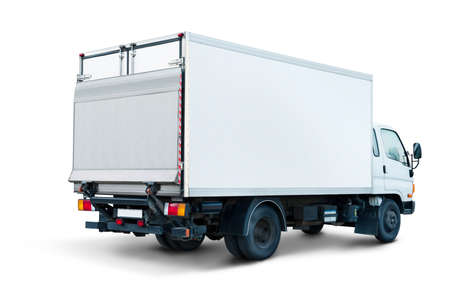 small cargo trailer isolated on white background
