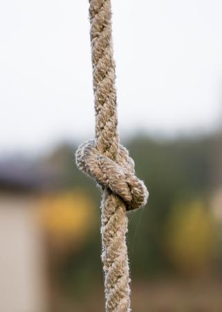 Knoten aus Seil Standard-Bild