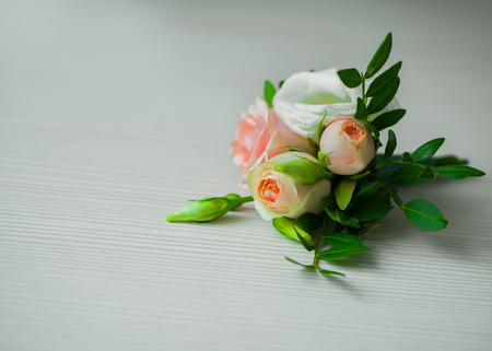 Boutonniere on white background