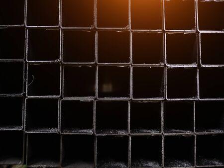Baustahlprofilrohr mit rechteckiger Form im Lager für Stahlprodukte.