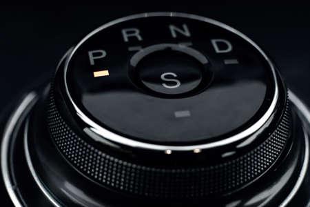 transmission control panel close up macro photo. 免版税图像