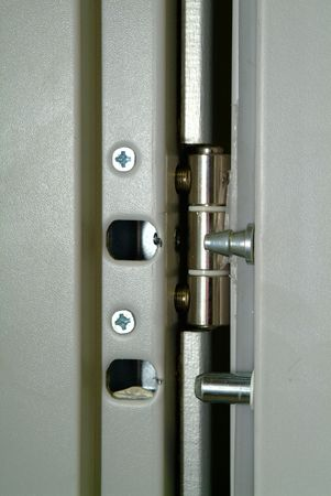 Fragment of a modern door-lock on a door