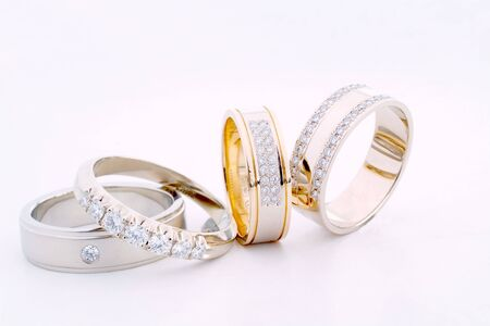 Beautiful gold rings with brilliants