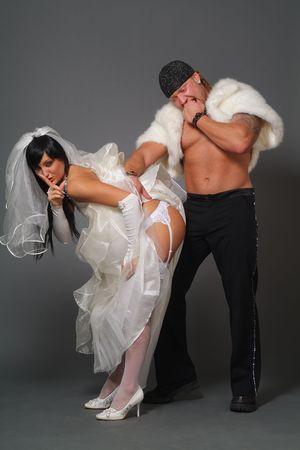 fesses black: Comic image sur un th�me de mariage