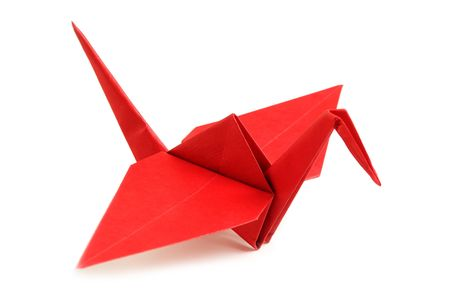 Pigeon from a paper in a kind origami photo