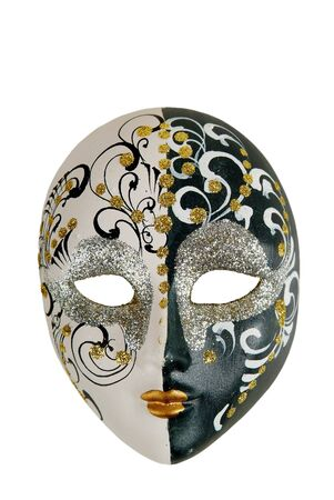 Mask in the Italian style on a white background Stock Photo
