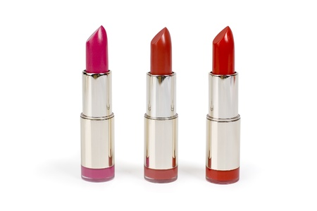 cut up: Lipstick on a white background for a make-up