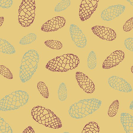 Seamless background with cones. Vector illustration. Illusztráció