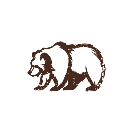 Bear icon Silhouette of the animal. Template for design. Ilustração