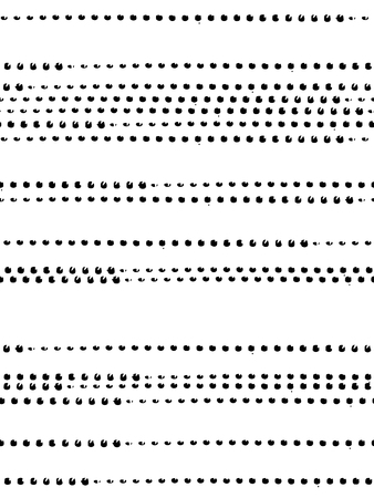 Seamless pattern with dots lined up in the white and black colors. Ink and brush. Abstract. Hand drawn. Vector illustration. Иллюстрация