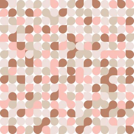 Seamless geometric pattern. Coral. Vector illustration.