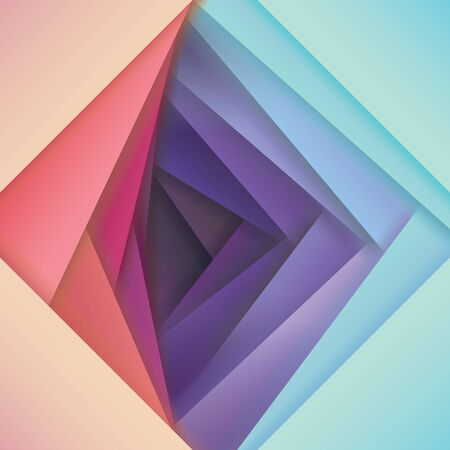 abstract papercut vector background, pink to violet color map, overlapping shapes in several bright gradient color combinations, Colorful material design style wallpaper, vector illustration Vecteurs