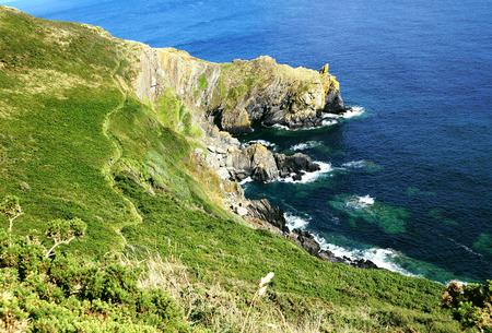 cornwall: Cornwall Coast Path near Polperro