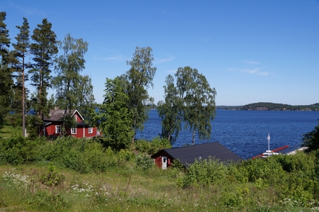 idylle: Idyllic lake in rural Sweden