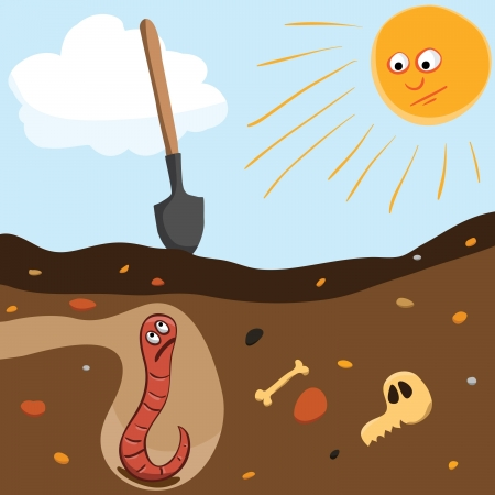 Fear of the worm in hole, vector eps