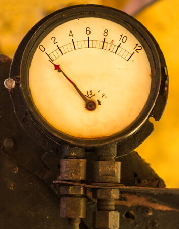 Old manometer Stock Photo