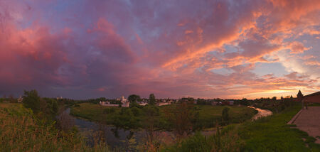 patriarchal: Beautiful sunset on a summer evening in Suzdal, Russia.