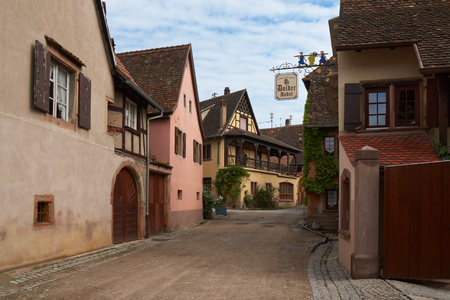 alsace: Beautiful city Mittelbergheim in Alsace in France