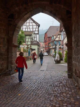 vins: Beautiful city Ribeauville in Alsace in France Editorial