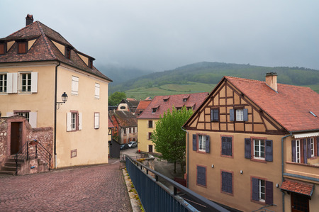 vins: Beautiful city Hunawihr in Alsace in France