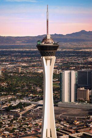stratosphere: Las Vegas Stratosphere tower Editorial