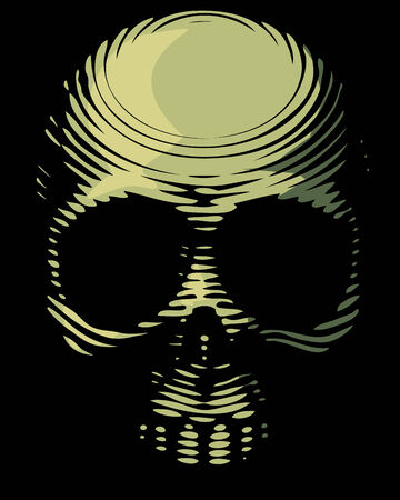 engraved image: Skull engraving imitation. Skull engraving imitation. Eps8. CMYK. Organized by layers. Global colors. Gradients free.