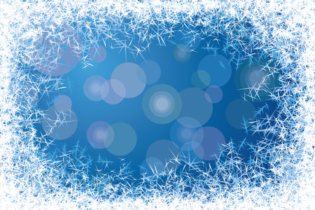 frosted window: Blu satinato finestra. Vettoriali