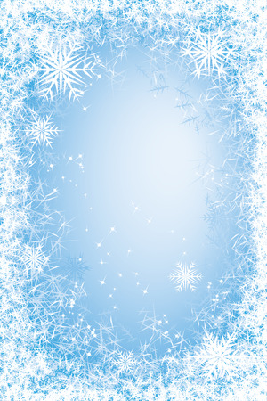 Light blue frosted window.