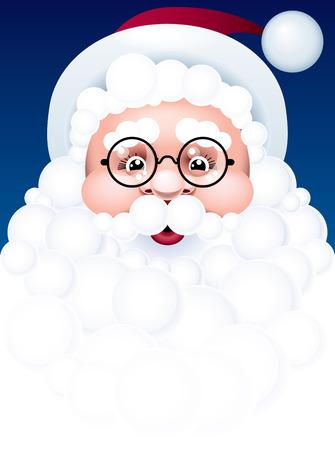 Santa face. Vector