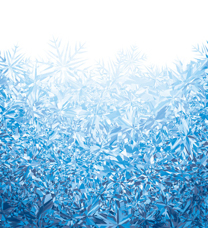 rime frost: Blue winter background.  Illustration