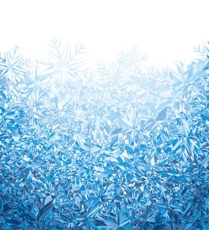 frozen glass: Blue winter background.  Illustration