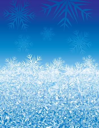 rime: Blue winter background.