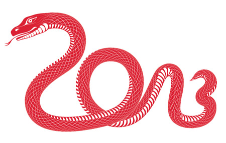 snake year: Year of the snake 2013.  Illustration