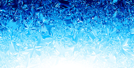 water frozen: Blue winter background.  Illustration