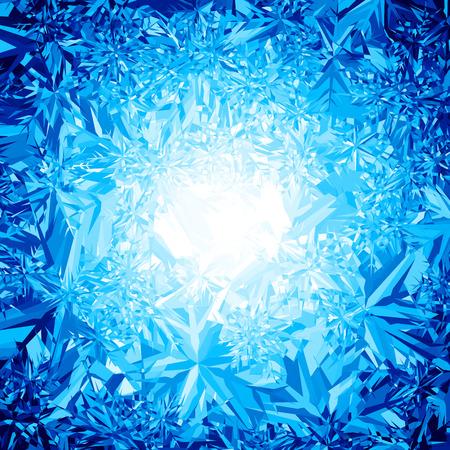 青い冬の背景。  イラスト・ベクター素材