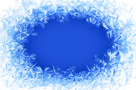 Blue frosted window. Eps8. RGB. Global colors. Gradients used. Illustration