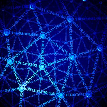 multilayer: Blue multilayer computer network.