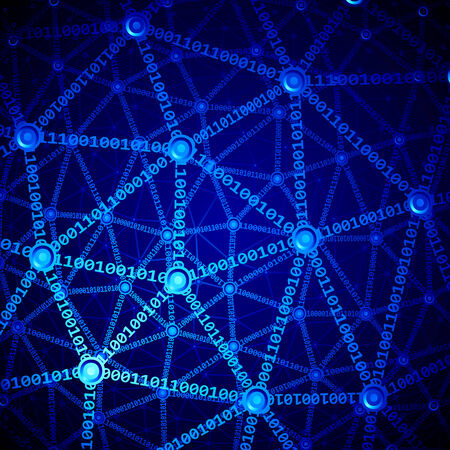 blue network: Blue multilayer computer network.