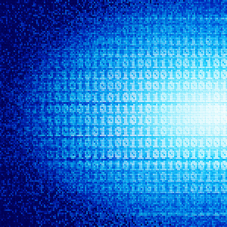 Abstract vector background with binary code. Vector