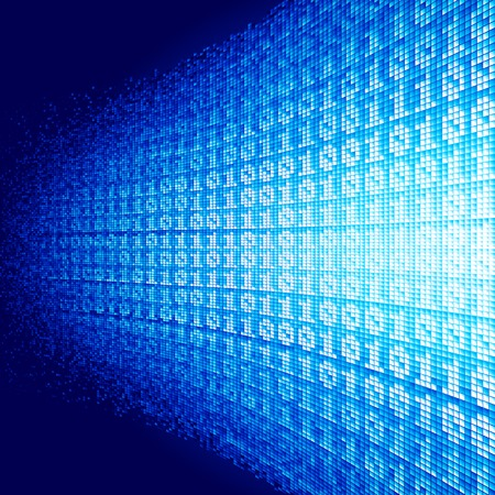 Abstract vector background with binary code Vector