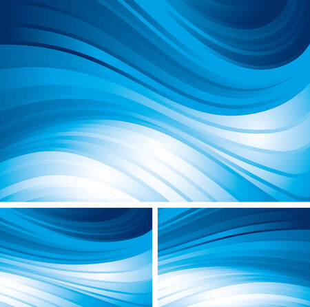 blue  backgrounds: Tree blue abstract backgrounds.