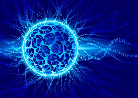 Plasma ball with binaries.  Illustration