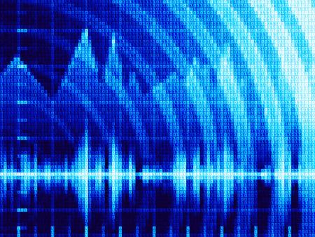 oscillate: Blue abstract techno background Illustration