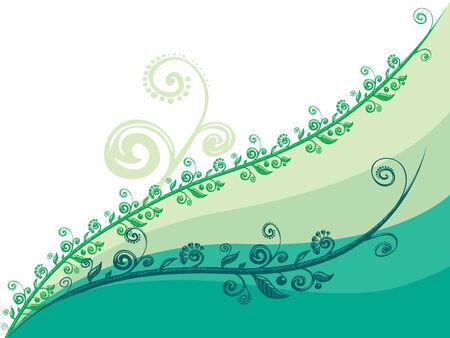 blumen abstrakt: Green floral abstrakten Hintergrund