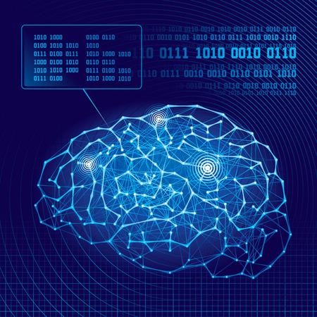 inteligencia: Fondo abstracto con la ciencia del cerebro. Eps8. CMYK. Organizado por capas. Mundial de colores. Los degradados utilizados.